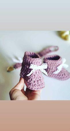 Buciki niemowlęce zawieszka do smoczka chrzest roczek