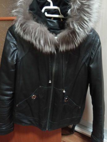 Куртка кожаная, кожа