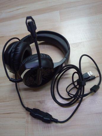 Słuchawki gamingowe czarne