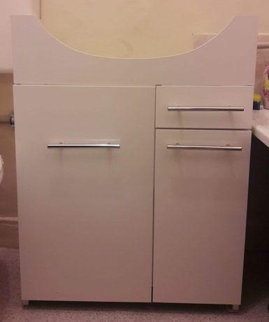 Szafka podumywalkowa, szafka do łazienki, łazienkowa biała duża