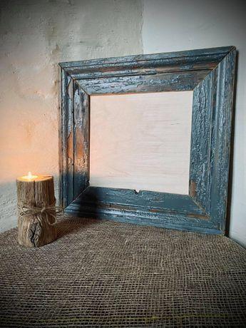 Ramka na zdjęcia ze starego drewna Ramki Frame Hand made 50x48 cm
