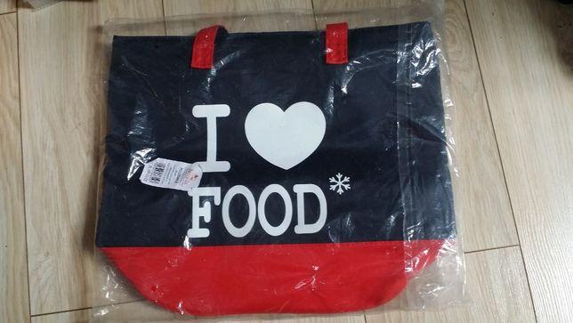 # Torba ALICANTE #Czerwono-czarna#I Love Food#NOWA pomysł na prezent !