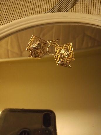 Kolczyki Versace złote