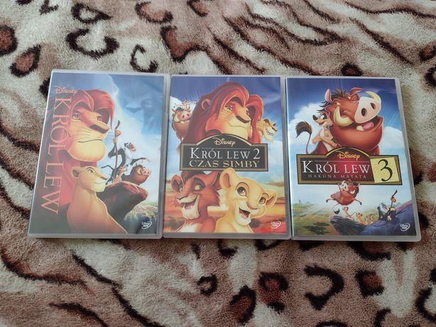 Król Lew zestaw 3 filmy DVD