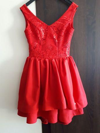 Sukienka czerwona 34 / XS