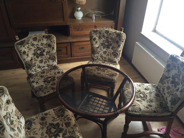 Piękne dębowe krzesła + stół okrągły!!!
