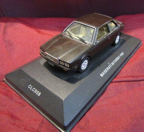 Maserati BiTurbo 1982 model 1:43 kolekcjonerski na podstawce IXO Model