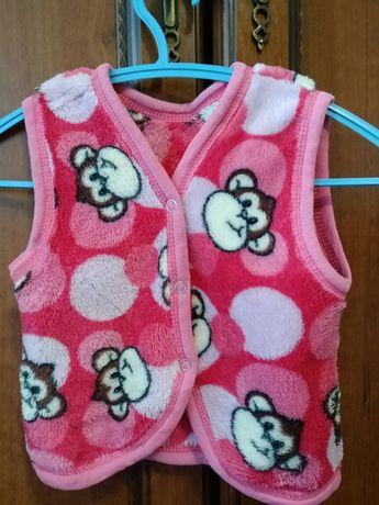 Махровая жилеточка для девочки 1 годик