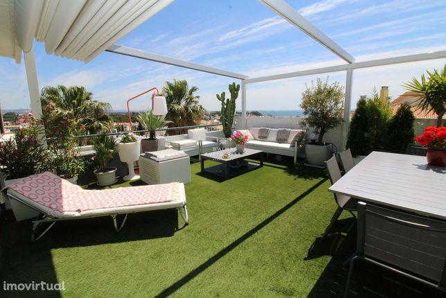 Terraço 30 m2  *  Vista Mar  *  Piscina  *  10 min Praia *Penthouse*Es