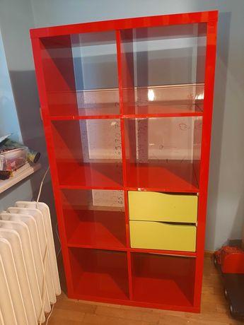 Regał Ikea Kallax z szufladkami