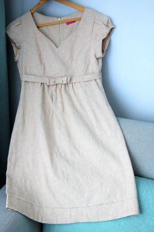Sukienka ciążowa s Happymum beż beżowa S wizytowa ciazowa s