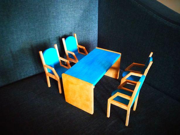 Мебель для кукольного домика. Стол, стулья для Барби. Мебель для барби