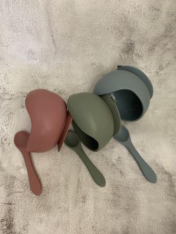 Детская силиконовая посуда, поильник, грызунок