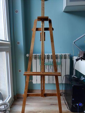 Sztaluga drewniana malarska wysoka regulowana trójnożna