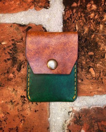 Card Holder EDC,  wizytowik handmade, skorzany na karty, portfel
