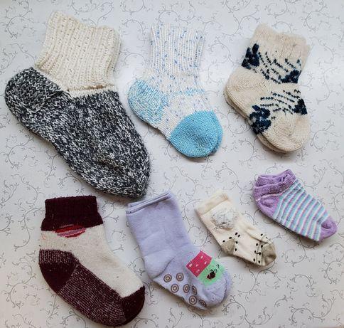Носки детские, носочки, колготки, Новые и Б/У, вязаныне