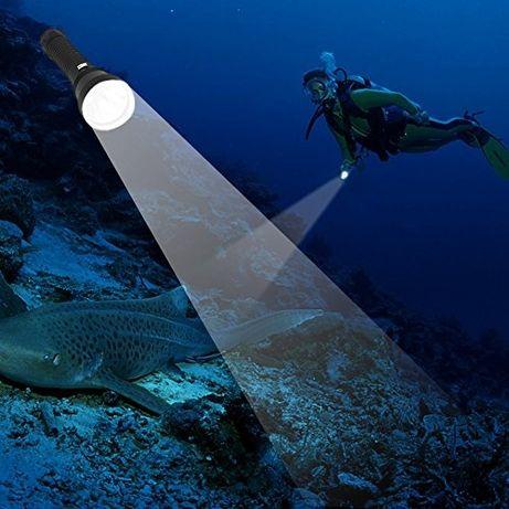Фонарь Boruit XHP 70.2 для подводной охоты,жёлтый свет,ориг!фонарик