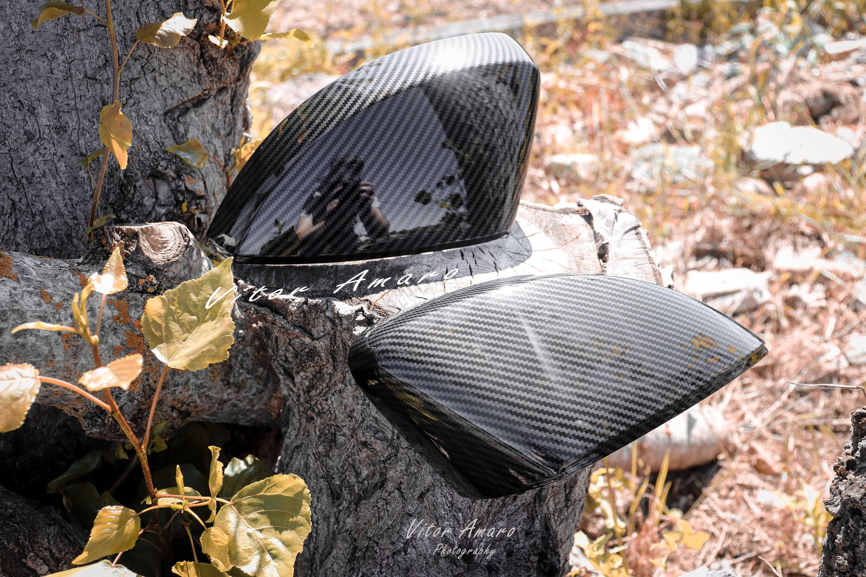 Capas de Espelhos em Look Carbono Glossy (Audi A3 8v, S3, RS3)   NOVAS