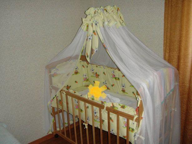 Продам кроватку детскую деревянную 120/60