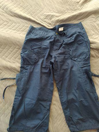 Granatowe spodnie trekingowe M