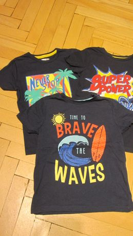 3szt granatowe t-shirty, koszulki 116 Pepco nowe