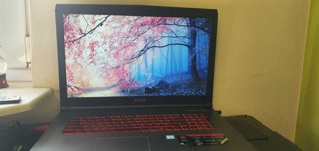 Używany Laptop gamingowy, 17'6, I7 7th gen, Geforce GTX 1050, 238gb