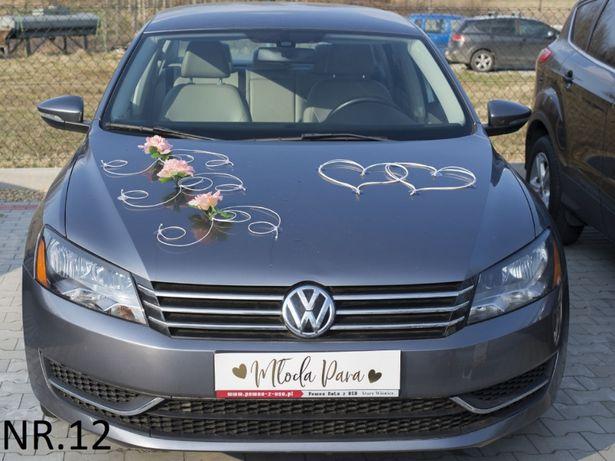 Stroik-dekoracja-ozdoba-przybranie samochodu-auta do Slubu.TANIO