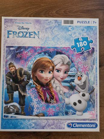 Puzzle 180 Kraina Lodu Elza Ana Olaf dla dzieci