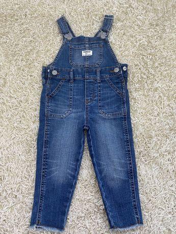 Облегающий джинсовый комбинезон OshKosh Carters 2T/80см