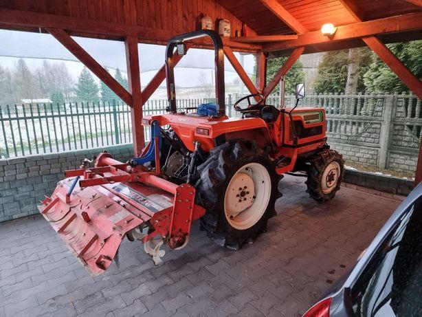 Traktor 4x4 Hinomoto/Hitachi N249 + pług + glebogryzarka + odśnieżarka