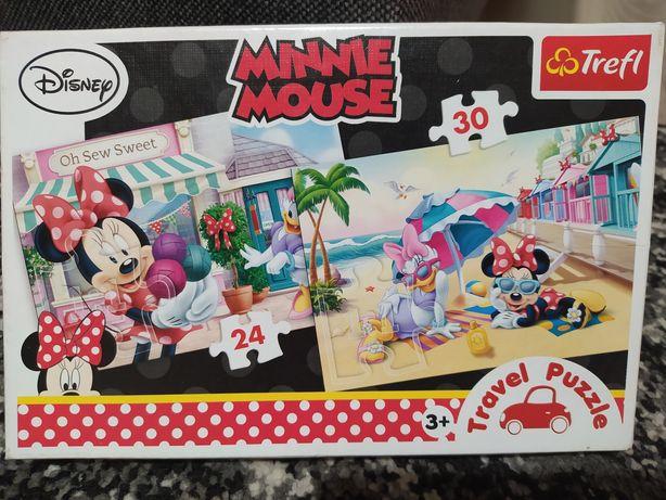 Puzzle podróżne Minnie Mouse 3+