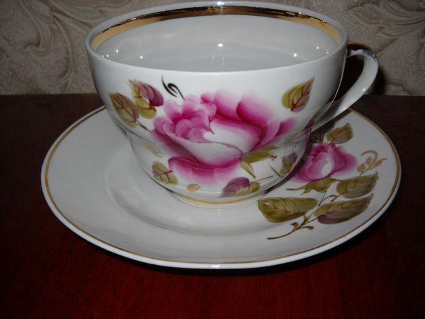 чайная пара чашка с блюдечком ссср