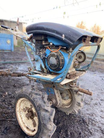 Мотоблок Нива с прицепом и навесным оборудованием