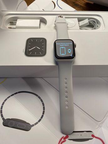 Apple Watch 5 40mm Cellular + GPS / srebrny /  jak nowy / stan idealny
