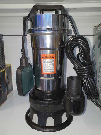 Насос Фекальный Дренажный Нержавейка 2,5 KW для Выгребных Ям с дробилк