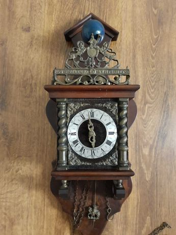 Stary holenderski zegar Atlas Nu Elck Syn Sin