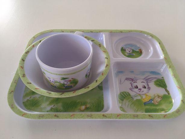 Prato, taça e caneca refeição bebé