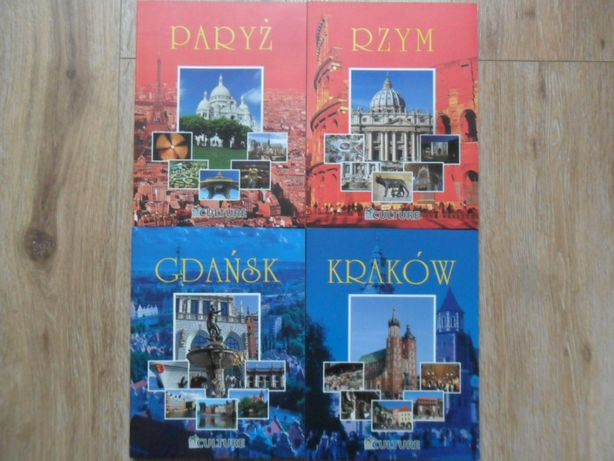 Najpiękniejsze miasta - Paryż, Rzym, Kraków, Gdańsk
