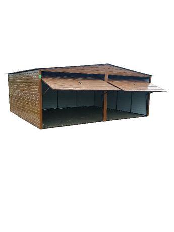 Garaż blaszak każdy wymiar Drewnopodobny ocynk Ral 6x5 Producent