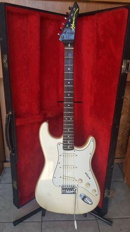 Gitara Hondo Strat produkcji japońskiej.