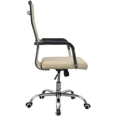 Cadeira de escritrio em couro artificial 55x63 cor Nata portes incluid