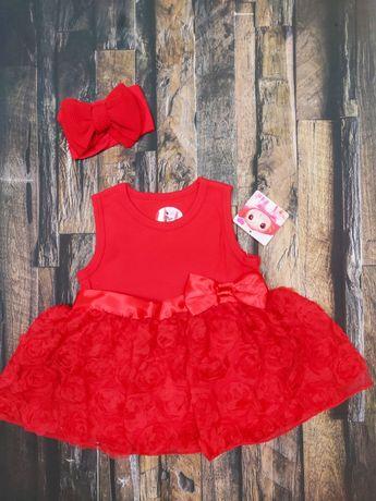 Sukienka z koronką dla dziewczynki