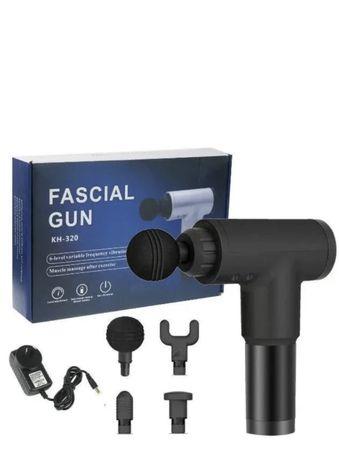 Портативный ручной массажер для тела Fascial Gun KH-320 черный, Мышечн