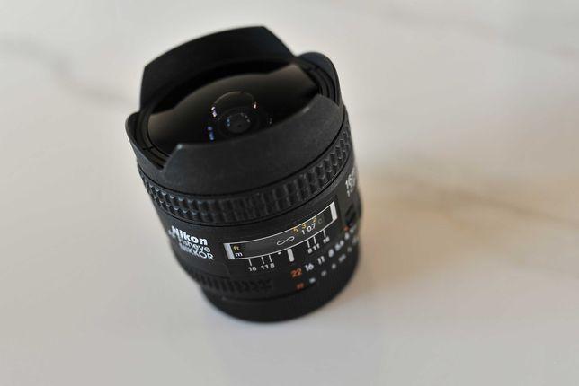 Obiektyw Nikon Nikkor 16mm f/2.8 Fisheye rybie oko jak nowy