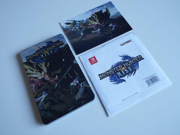 SWITCH Monster Hunter RISE STEELBOOK + dodatki PRZEDpremierowe