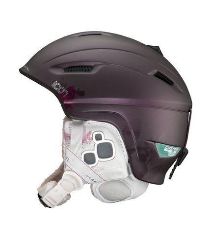 Kask narciarski Salomon icon custom air prunematt xs
