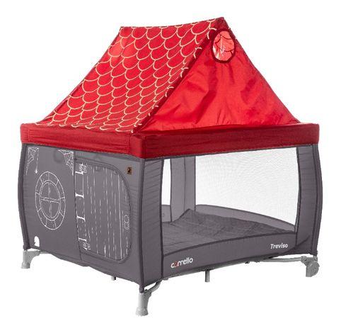 Игровой манеж - палатка / домик с крышей Treviso 100х100см