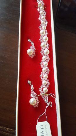 Biżuteria ślubna perły