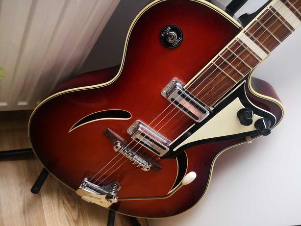 Gitara hollow body musima z nowym setem elektroniki.