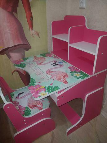 Детская парта , стол и стул , для девочки